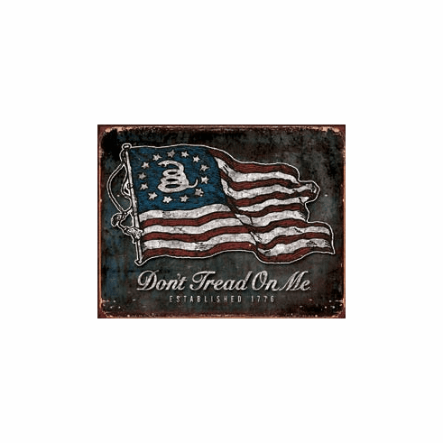 DTOM - Vintage Flag Tin Signs