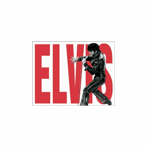 Elvis Leather Tin Signs