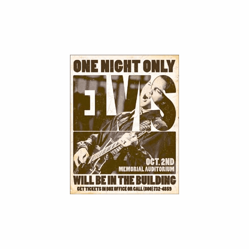 Elvis - One Night Only Tin Signs