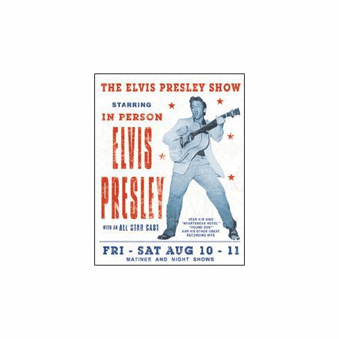Elvis Presley Show Tin Sign