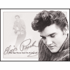 Elvis - Sun Never Sets Tin Sign