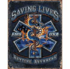 EMS - Saving Lives Tin Signs