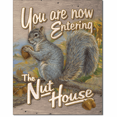Entering Nut House Tin Signs