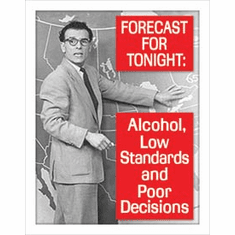 Ephemera - Tonight's Forecast Tin Sign