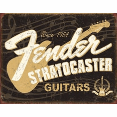 Fender Stratocaster 60th Tin Signs