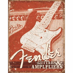 Fender Weathered G&A Tin Signs