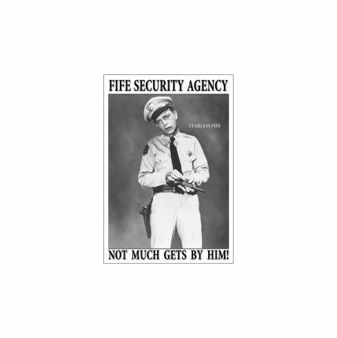FIFE Security Agency Tin Sign