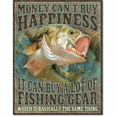 Fishing Happiness Tin Signs