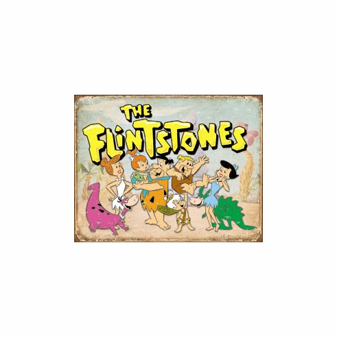 Flintstones Family Retro Tin Signs