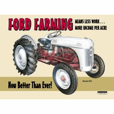 Ford Farming 8N Tin Sign