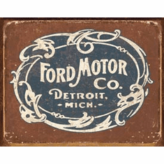 Ford - Historic Logo Tin Signs