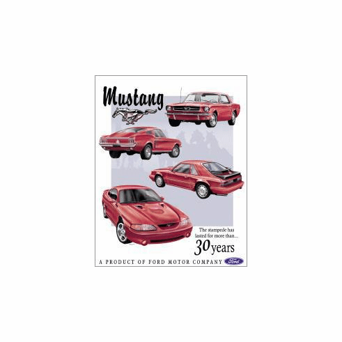 Ford Mustang Tribute Tin Signs