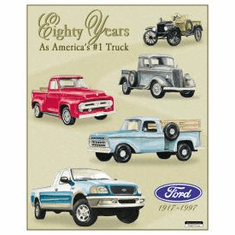 Ford Trucks 80 Year Tribute Tin Signs
