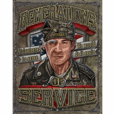 Generations of Service Tin Signs