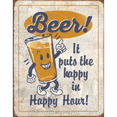 Happy Hour - Beer Tin Signs
