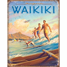 Hawaii - Surfside Tin Signs