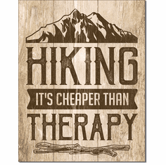 Hiking - Therapy Tin Signs