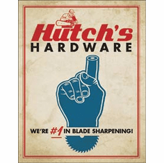 Hutch's Hardware Tin Signs