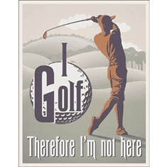 I Golf Tin Signs