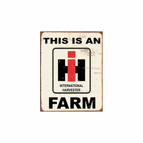 IH Farm Tin Sign