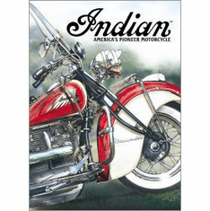 Indian - America's Pioneer Tin Sign