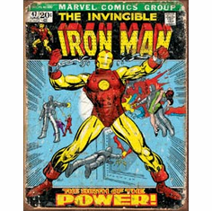Iron Man Comic Cover Tin Signs