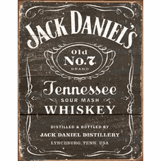 Jack Daniel's - Weathered Logo Tin Signs