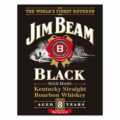 Jim Beam - Black label Tin Sign