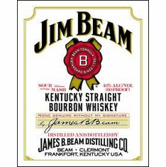 Jim Beam - White Label Tin Sign