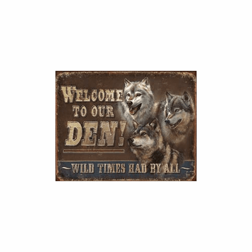 JQ - Den - Welcome Tin Signs
