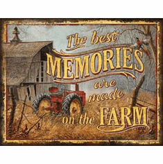 JQ - Farm Memories Tin Signs