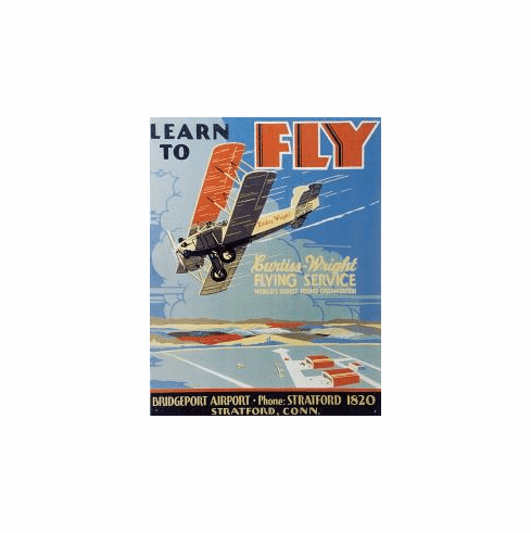 Learn to Fly Tin Sign