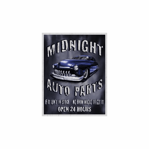 Legends - Midnight Auto Parts Tin Signs