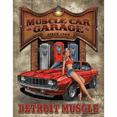Legends - Muscle Car Garage Tin Signs