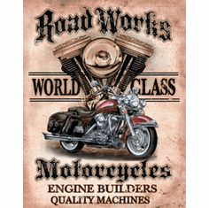 Legends - Road Works Tin Sign