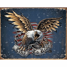 Live to Ride - Eagle Tin Sign