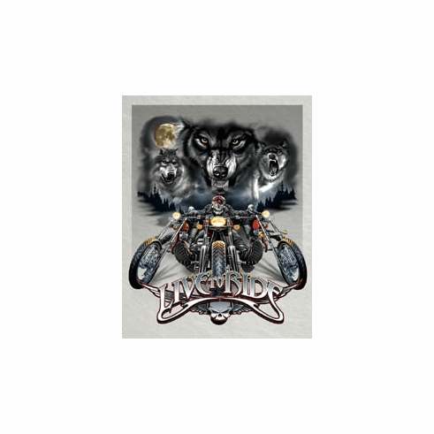 Live to Ride - Wolves Tin Sign