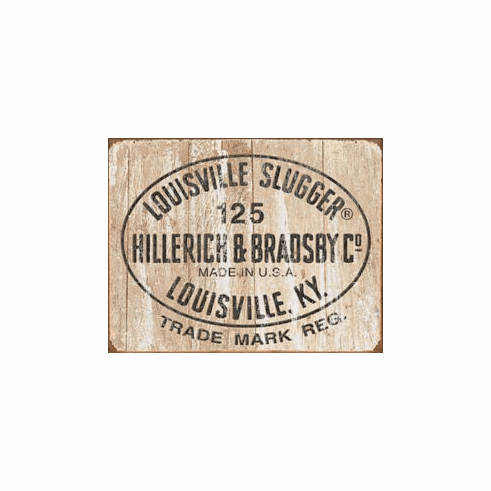 Louisville Slugger - 125 Logo Tin Signs