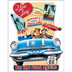 Lucy - On the Road Tin Sign