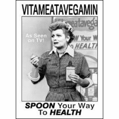 Lucy Vitameatavegamin Tin Sign