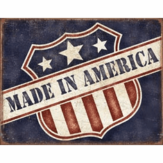 Made in America Tin Signs