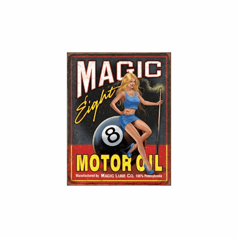 Magic Eight Motor Oil Tin Signs
