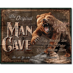 Man Cave - The Original Tin Signs