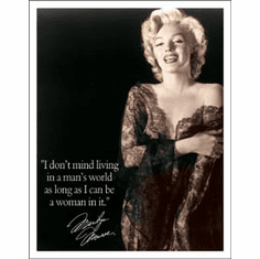 Marilyn - Man's World Tin Sign
