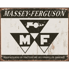 Massey Ferguson Logo Tin Sign