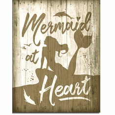 Mermaid at Heart Tin Signs