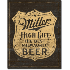 Miller - Vintage Shield Tin Signs