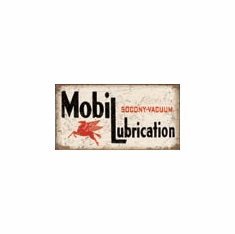 Mobil Lubrication Tin Signs