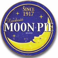 Moon Pie - Round Logo Tin Signs