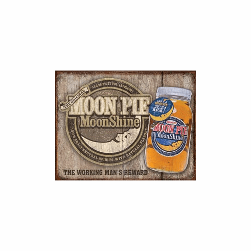 Moon Pie Whiskey Tin Signs